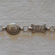 Sterling Silver Concho Vintage Bracelet