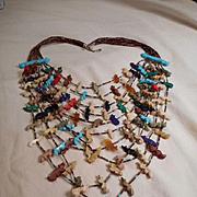 Fetish Ten Strand Sterling Silver Vintage Necklace