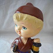Vintage Nodder Monk Doll
