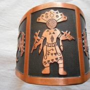 Kachina Copper Vintage Cuff Bracelet