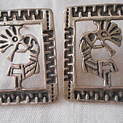 Kokopelli Sterling Silver Vintage Earrings