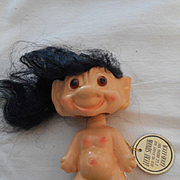SALE Troll Vintage Ceramic 'Lucky' Doll With Tag