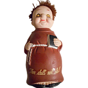 SALE Monk Vintage Thou Shall Not Steal Ceramic Bank