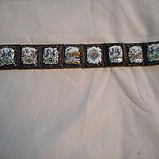 Hand Painted Enamel Painted Vintage Link Bracelet