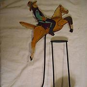 Cowboy Metal Tetter Totter Balance Art Figurine