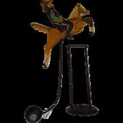 SALE Cowboy Metal Tetter Totter Balance Art Figurine