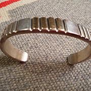Sterling Silver & 14K Vintage Bracelet