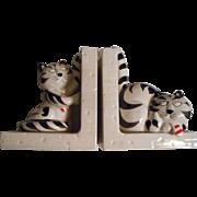 Tom Cat Takahashi Ceramic Bookends