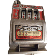SALE Nevada Buckaroo Slot Machine Vintage Bank