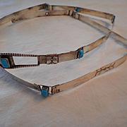 Sterling Silver Turquoise Vintage Belt