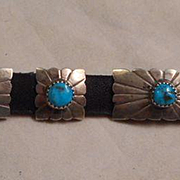Sterling Silver Turquoise Concho Bracelet