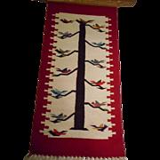SALE Chimayo Wool Vintage Tree Of Life Framed Rug
