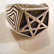 Sterling Silver Star Vintage Ring
