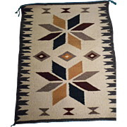 SALE Wool Hand Woven Vintage Navajo Rug