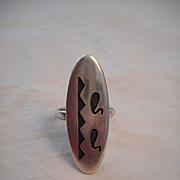 Sterling Silver Vintage Hopi Ring