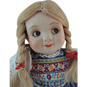 SOLD Antique Bisque Googly Doll, 9 1/2 Inches