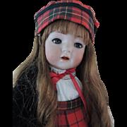 """SOLD Kammer & Reinhardt #121 Toddler 22"""" Antique German Bisque Doll, Scottish Attire!"""