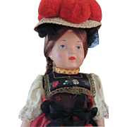 "Schildkrot Celluloid Doll, 12"" All Original, Turtle Mark, Germany, Black Forest"