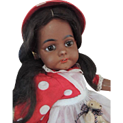 SOLD Simon & Halbig #739 Black Antique German Bisque Doll, 22 IN, Paperweight Eyes
