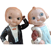 SOLD Dolly Dingle and Bobby Blake Pair, Grace Drayton Antique Composition Dolls,10 IN