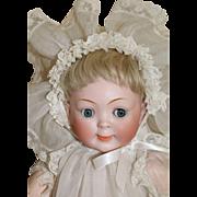 Hertel, Schwab & Co. #165 Googly Toddler, 22 Inches, Antique Bisque Doll Size 12