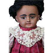 "SOLD Simon & Halbig DEP 1009 Antique German Doll,11"" Black Doll"