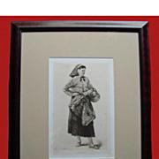 SALE La Cancalaise,Woman With A Basket, Antique Adolphe Lalauze Etching
