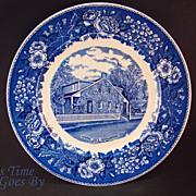 SALE Staffordshire Commemorative Plate -Lee's Headquarters, Gettysburg, PA
