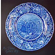 SALE Staffordshire Commemorative Plate - Molly Pitcher - Early