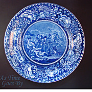 SOLD Staffordshire Commemorative Plate - Battle of Bunker Hill- Early