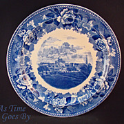 SOLD Staffordshire Commemorative Plate - Boston Common and State House 1836