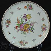 SALE Hand Painted Dresden Platter - Hirsch