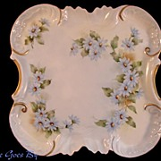 SALE Hand Painted Blue Floral Dresser Tray