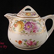 SALE Hand Painted Dresden Flower Lidded Creamer - Hirsch
