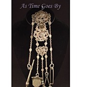 SALE Victorian Silver Chatelaine
