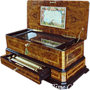 SOLD Magnificent Cartel Interchangeable Cylinder Music Box - REUGE_- Sublime Harmonie