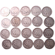 Roll of Silver WALKING LIBERTY  Half Dollars. 1917-1944