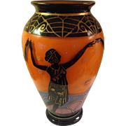 Delatte Nancy Deco Cobalt Art Glass Vase Signed **Spectacular Museum Quality**