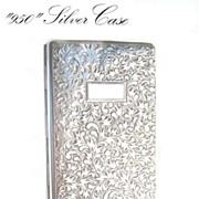 SOLD Antique 950 Silver 6+Inches Sterling European Cigarette Case Engraved Art Nouveau Billfol