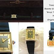 SOLD Premier Lady's 14KT Gold Baume & Mercier Geneve Bracelet Watch in Original Case