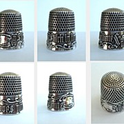 "SOLD Antique Simons Victorian Sterling Silver Thimble ""A Stitch in Time Saves Nine"" Size 9"