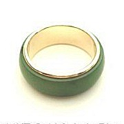 SOLD Vintage Estate 14KT Yellow Gold & Jade Ring Hallmarked