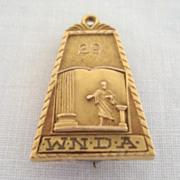 Beautiful 29 Vintage WNDA Humorous Award Gold Filled Brooch Pin