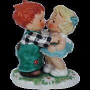 SALE Vintage Hummel Goebel Figurine The Stolen Kiss Porcelain #Byj 18