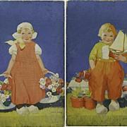 Exceptional Pair of Illustration Paintings by Albert Hencke (1865-1936)
