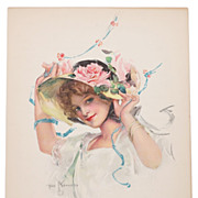 "SOLD ""May Pole Dance"" Original Vintage 1913 Litho by Troy Kinney"