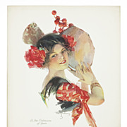 "SOLD ""La fota Valencia of Spain"" Original Vintage 1913 Litho by Troy Kinney"