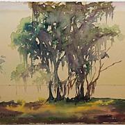 Original Watercolor Painting, Coastal Florida, IL/FL Artist Rachel Stearns