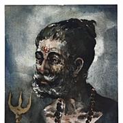 Portrait of a Man by Indian Artist G. D. ThyagaRaj