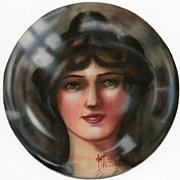 "Art Deco Style ""Bubble"" Portrait Early 20th Century"
